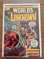 Worlds Unknown #1 Marvel Comics 1973 FN