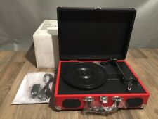 Retro Portable Suitcase Turntable USB-to-PC Record Player Rechargeable NIB