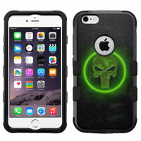 for iPhone 6 Plus, 6s Plus, Shockproof Rugged Impact Armor Case Punisher #GRN
