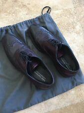 John Varvatos Distressed Purple Leather Wingtip Shoes USA 8 EU 41