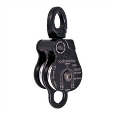 """Rock Exotica Omni-Block 1.5"""" Double Black Rescue Pulley P51D-B Made In The USA"""