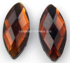 Strass pietra termoadesivi Marrone 15mm x 7mm 10pz ovale chicco goccia hotfix