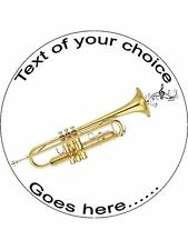 Trumpet music instrument Personalised Edible Cake Topper Wafer Icing Decoration