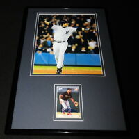 Aaron Boone Signed Framed 11x17 Rookie Card & HR Photo Display Yankees