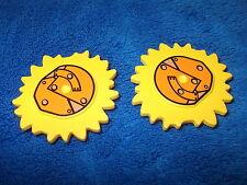 LEGO DUPLO 2 X SONNE GELB ca. 4 CM DURCHMESSER NEU NEUWARE LITTLE ROBOTS