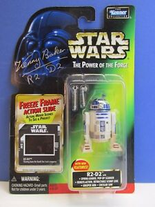 rare SIGNED BY KENNY BAKER star wars R2-D2 ACTION FIGURE POTF2 autograph 16A