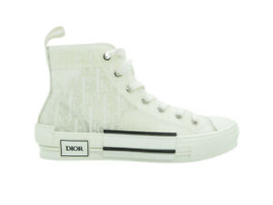 Dior High Top Trainers Sneakers White Oblique
