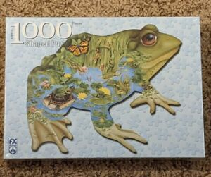 FX Schmid Prince of the Pond 1000 Piece Frog Shaped Jigsaw Puzzle New Sealed