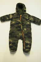 Baby GAP Primaloft One Piece Snowsuit Bunting Footed Green Camo Size 6-12 months