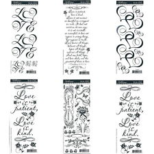 WEDDING Love Rub On Scrapbooking Transfers 6 sheets - Verse Words Flowers Hearts