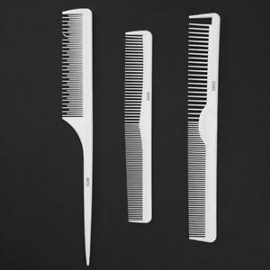 Professional 3pcs Hair Combs Kit White for Set Tool Styling Hairbrush