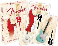 Fender Stratocaster Pálido Caja Conjunto de 52 Carta de Juego (NM 52389)