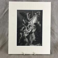 1860 Stampa Religioso Art Gesù Cristo Rubens Pittura Originale Antico
