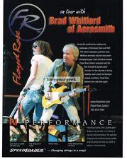 2006 FLOYD ROSE Speedloader Electric Guitar BRAD WHITFORD Aerosmith Vtg Print Ad