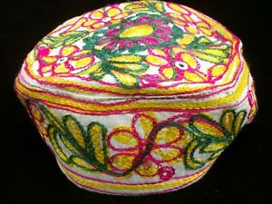 Sindhi Embroidery Hat Middle Eastern Turkish Topi Boys Cap Colorful