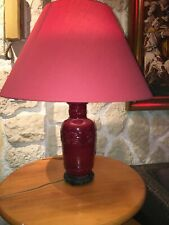 Lamp Porcelain Chinese Red D' Age Art Deco