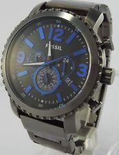 Fossil Herren Armbanduhr Chronograph Edelstahl Blau Sport Edel Uhr Neu OVP