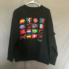 Vintage United Colors Of Benetton Spell Out Sweatshirt Crewneck Black Size Med