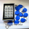 125KHz RFID Card + Password Metal Door Access Control Keypad +10 ID Card Keyfobs