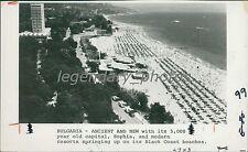 1977 Resorts Guests on Beaches of Sophia Bulgaria Original News Service Photo