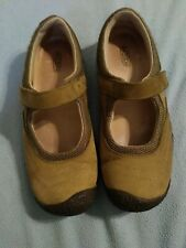 Keen Mary Jane Shoes Size 8 Olive Green Velcro Closure