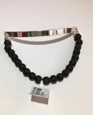9945 - Thomas Sabo Sterling Silver Matt Obsidian 'Love Bridge' Bracelet