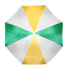 "Large 72"" Green-Yellow Beach Umbrella Nylon Adjustable Patio Pool Portable case"