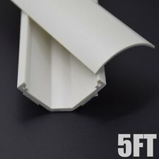 """5FT Cable Cord Cover Raceway Corner Duct Wire Management 1.69"""" x 0.90"""" White"""