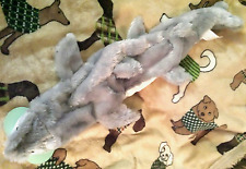 """22"""" Aussie Naturals Shark Dog Toy, Squeakers, Rope Inside Dog Toy, 2 Toys in 1"""