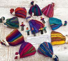 Worry Dolls dans des sacs en gros de guatémaltèque de 12 fait main Commerce Équitable des poupées