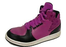 Jordan Nike youth girls basketball sneakers shoes leather hi top laces size