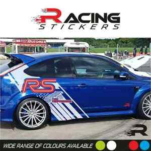 Car Stickers Ford Focus RS Car Wrap Ford Performance Pro Racing Both Sides