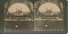 Stéréo PARIS 1900 - Expo Universelle Le Trocadéro depuis la Tour Eiffel - 15