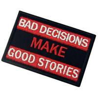 Make Good Stories Hook Loop Patch Sew On Badge Fabric Craft Sticker Clothes Bag