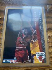 1992-93 Fleer #7 Michael Jordan Drakes Rare NMMT Bulls NBA Basketball Card HOF