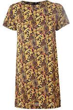Viscose Boat Neck Short/Mini Tunic Dresses for Women