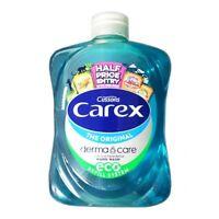 4 x CAREX CUSSONS ORIGINAL HAND WASH LIQUID MOISTURE NO PUMP REFILL 250 ML
