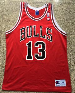 Vintage NBA Jersey Champion 44 Luc Longley Jersey Chicago Bulls Jersey Rare