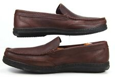 GIORGIO BRUTINI Men's Travel MOCS Shoes Slip On Loafers SIZE 10.5D Brown Leather