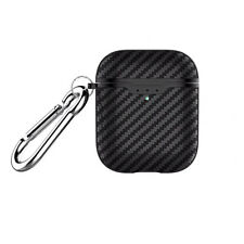 For Apple AirPods 2 Wireless Charging Case Carbon Fiber Texture Soft Case Cover