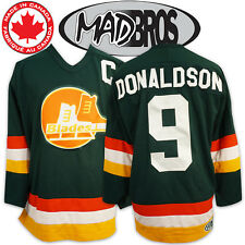 Slap Shot Movie Hockey Jersey #9 DONALDSON *Officially Licensed* Made in Canada