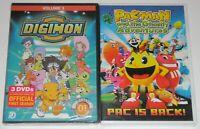Kid DVD Lot - Digimon Adventure Season 1 Vol 3 (New) Pac-Man (New)