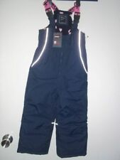 ⭐️ NEXT 9-10y BNWT  Navy/Pink Ski/snow trousers/salopettes with braces ⭐️ NEW