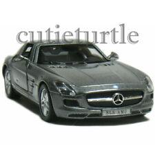 Kinsmart Mercedes Benz SLS Amg Gullwing 1:36 Diecast Toy Car Grey KT5349D