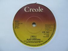 """RUBY WINTERS I Will/Bluer Days Ahead UK 7"""" Single EX Cond"""