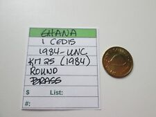 GHANA, 1 cedis, 1984, UNC, Km 25 (1984)