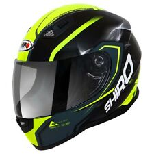 Casco Integrale Helmet SHIRO SH 881 MOTEGI Nero Giallo Fluo Black Yellow Lucido