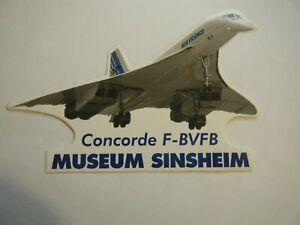 CONCORD STICKER F-BVFB CONCORDE