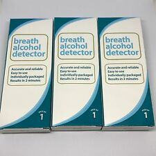 Accurate And Reliable Alcohol Breath Detector Breathalyser Triple Pack