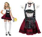 Lady Women Oktoberfest Beer Carnival Maiden Costume Halloween Outfit Fancy Dress